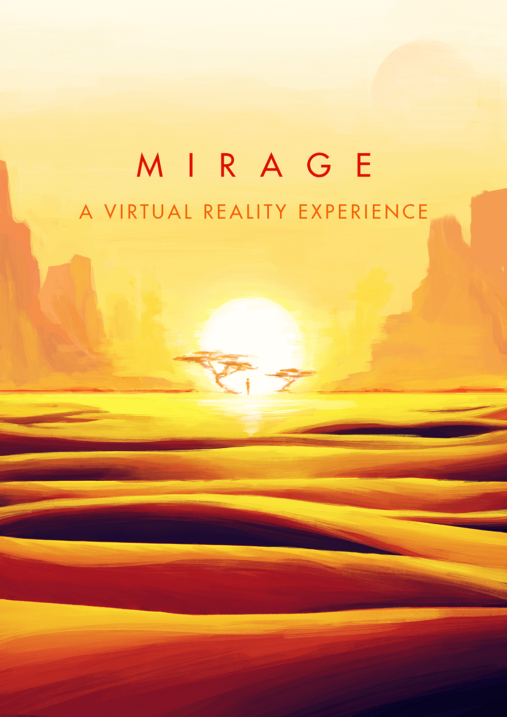Poster for Mirage an upcoming virtual reality experience by Philipp Maas