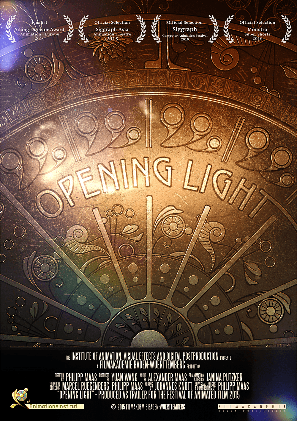 Opening Light Poster Trailer for the festival of animated film Stuttgart